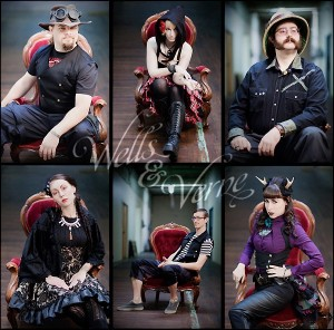 Images of SteamPunk Fashion provided by Wells and Verne www.wellsandverne.com